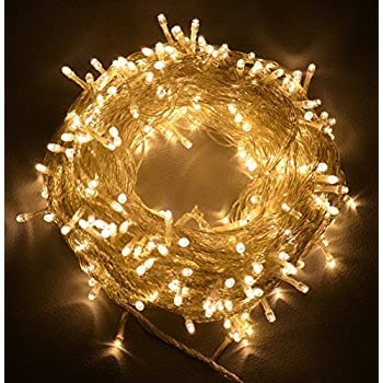 Proxima Direct 100/200/300/400/500 LED String Fairy Lights for Christmas Tree Party Wedding Events Garden (8 Lighting Modes, memory function) - Top Quality (Warm White, 500 LED)