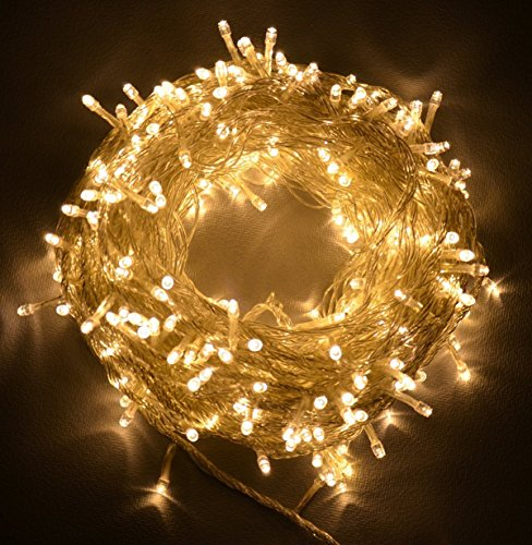 Proxima Direct® Proxima Direct 100/200/300/400/500 LED String Fairy Lights for Christmas Tree Party Wedding Events Garden (8 Lighting Modes, memory function) - Top Quality (Warm White, 100 LED)