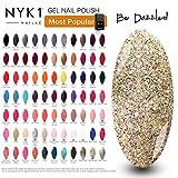 Vernis à ongles gel doré pailleté - (Be Dazzled) Diamant UV LED Vernis à ongles vernis Couleur par NYK1 Nailac Lampe Shellac Gel de polymérisation Nail Art Printemps Couleur