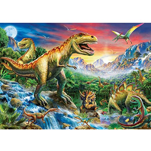 Rameng- Malerei Diamant Dinosaurier, 5D-Kits Stickerei DIY Diamant Malerei (Stickerei Schnelle Frames)