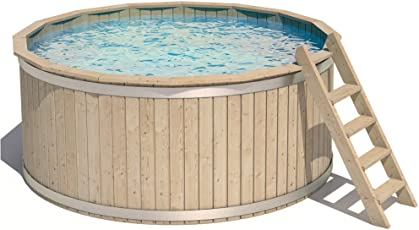 ISIDOR CASPER Holzpool Schwimmbecken Swimmingpool Rundpool 240x107cm