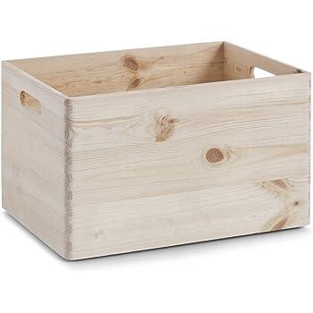 Zeller 13143 Cesta portaoggetti in legno di conifera, 39 x 29.5 x 23.5 cm