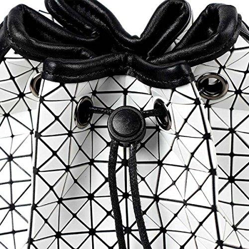 Femmina Moda Borsa A Tracolla Geometria Pieghevole Sacchetto Di Benna White