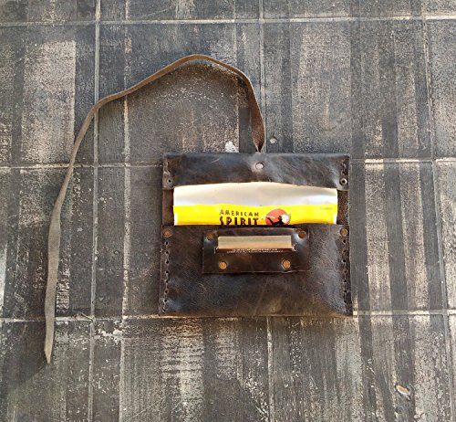 Porta Tabacco The Westlands Vera Pelle Primo Fiore Made in Italy con porta cartine e fiammiferi cuoio Portatabacco sigarette messicana Rolling fatto a mano