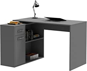 Fantastisch CARO Möbel Eckschreibtisch Lena Schreibtisch Computertisch In Verschiedenen  Farben, Mit Regal, 120 X