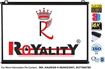 Royality MAP Type Projector Screen by Royality industries (7 Ft.(Width) x 5 Ft.(Height) = 100'')