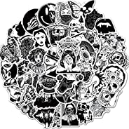 Punk Gothic Stickers of 50 Vinyl Black and White Decal Merchandise Laptop Stickers for Laptops, Computers, Hyd