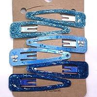rougecaramel–MolletteClic Clac con paillette,Set di 6pz,Blu