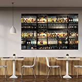 Fototapete Küche 183 x 127 cm Bar Cocktail Whiskey Cognac Regal Getränke Tapete inklusiv Kleister livingdecoration