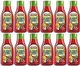WERDER 12 x Kinder Tomaten Ketchup 'OHNE ZUCKERZUSATZ' 500 ml