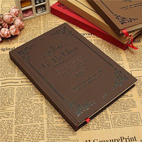 Preisvergleich Produktbild Tutoy Notizbuch-Harte Abdeckung Leeres Tagebuch-Starkes Sketchbook Klassisches Vintages Reise-Journal - Kaffee
