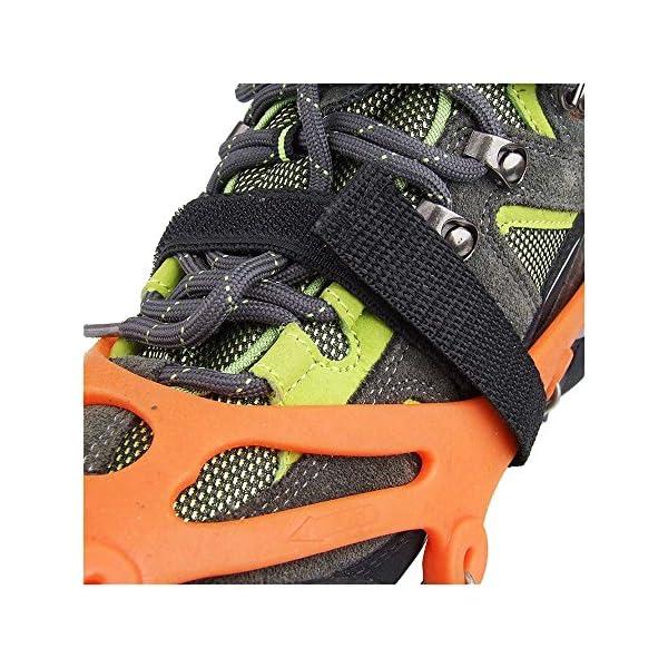 Crampones - SODIAL(R) 2 x zapatos de crampones de 12 dientes de garras antideslizantes cadena de cubierta de acero… 5