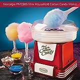 Nostalgia Electrics PMC805 - Máquinas de Algodón de Azúcar Vintage,Color Rojo Metálico