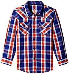 Allen Solly Junior Boys Shirt (AKBSF515092_Blue_11 - 12 years)