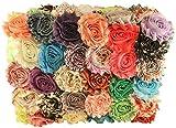 Tessuto chiffon con fiori per lavori artigianali, tessuto all'ingrosso, confezione da 50colori assortiti e stampe