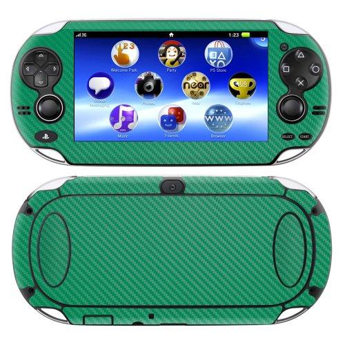 decalrus-Playstation PSP Vita Full Body Carbon Faser Haut Skins Aufkleber für Case Cover Wrap Dark Green Carbon Fiber -