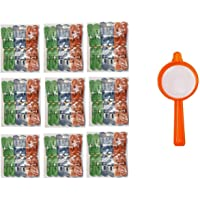 IMTION ® Combo ( Pack of 100 Pcs Cloth Clips + Free 1 Pcs Plastic Tea Channi ) Cloth chimti Heavy Duty Rust Free Cloth…
