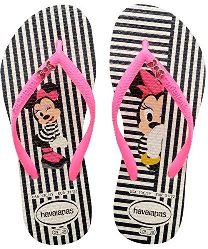 Havaianas Disney Cool Sandali per Bambine e Ragazze, Multicolore (White/Shocking Pink 8519), Taglia 33/34 EU (31/32 BR)