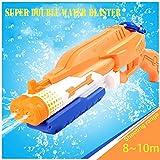 Addmos Spielzeug Wasserpistole Water Gun mit 10m Schießabstand, Super Spritzpistolen Soaker mit 1,2L Wassertank, Ideal als Badespielzeug Strandspielzeug für Den Sommer, Perfektes Geschenk für Kinder