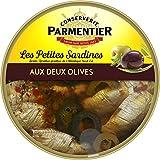 Parmentier Petites Sardines l'Huile d'Olive Vierge Extra aux Deux Olives Sprattus Sprattus de l'Atlantique Nord-Est 150 g