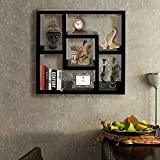 #9: Klaxon Home Decor Wall Shelve - Wooden Square Wall Shelve /Book Shelve/ Storage Wall Shelve-(Black,Matte Finish) (Big) (Do It Yourself – DIY)