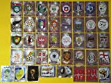 Panini WM 2010 Südafrika - Set alle 40 Wappen / Glitzersticker