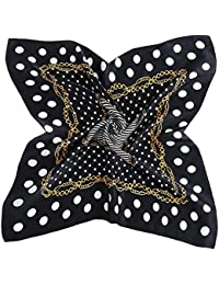 DAMILY Femmes Vintage Polka Dot Bandana Écharpe Twill Soie Tête Wrap Mode Carré  FoulardS ... 0a4ac8d6377