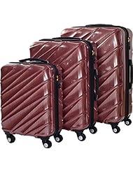 Shaik 7203030 Trolley Koffer, 3er Set ( M, L, XL), rot