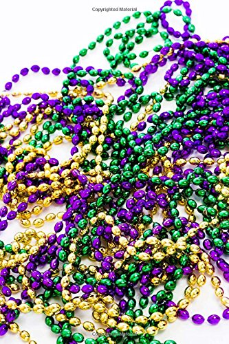 Mardi Gras Beads Fat Tuesday Journal: 150 Page Lined Notebook/Diary