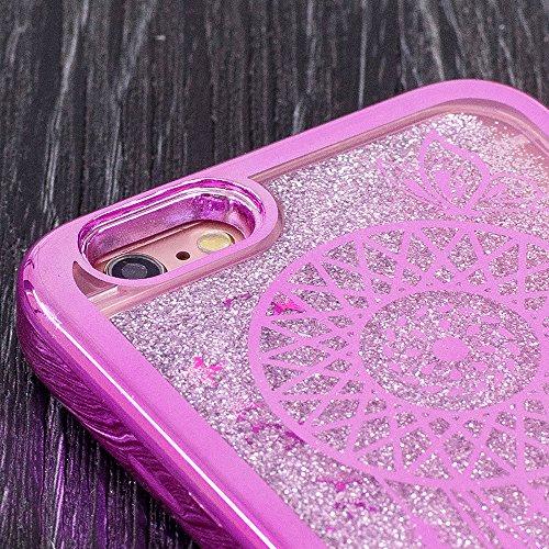 Etui pour iPhone 6 6s Transparente Housse,Vandot TPU Coque iPhone 6 6S Fashion Diamant Design Case Gel Silicone Souple Couverture iPhone 6 6S 4.7 Pouces Légère Slim Flexible Coque Protecteur Fonction  Placage-10