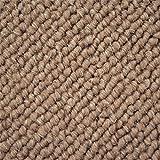 Schurwolle Teppich Shepherd Läufer - Farbe wählbar | 100% strapazierfähige Naturfaser Wolle | für Fußbodenheizung geeignet | Aufwertung für Wohnzimmer Schlafzimmer Gästezimmer Büros u.v.m., Farbe:Caramel, Größe:80 x 200 cm