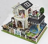 DIY Holz Puppenhaus HANDARBEIT Miniatur kit-large Villa & alle Möbel/Zubehör Show in Fotos