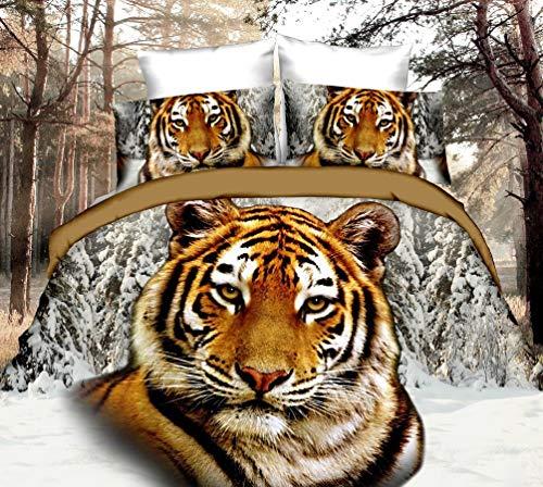 Ultra Weiche Komfortable 500TC 3/4 STÜCKE Tiger, Blume Tröster Kissenbezug Bettbezug Bettwäsche-sets Qualität Westlichen Stil Tröster Super Weiche Bettwäsche-set Bettbezüge Bettwäsche-Sets -