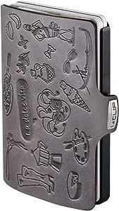 I-CLIP ® Portafoglio La dolce vita Slate, Gunmetal-Black (Disponibile in 2 Versioni)