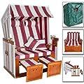 TecTake Zweisitzer Strandkorb + Premium Schutzhülle + 2 extra Kissen -diverse Farben- von TecTake bei Gartenmöbel von Du und Dein Garten