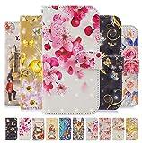 Yobby Cover per Xiaomi Redmi 5A,Premium Bianca PU Pelle Portafoglio 3D Vintage Pesca Fiore Tumblr per Donna,Magnetica Libro Flip Cover con Porta Carte e Supporto