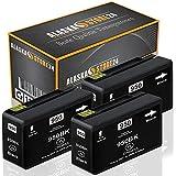 3X Druckerpatrone Komp. für HP 950 XL 950XL Schwarz Black BK für Officejet Pro 8600 8610 8620 8100 8615 8625 251dw 276dw e-All-in-One Patronen