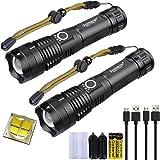 LED Zaklamp XHP50 USB Oplaadbaar Krachtige 4000 Lumen, Militair 5 Modi Waterdicht Zaklampen met 18650 Batterij voor Het Kampe
