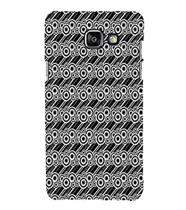 iFasho Animated Pattern littel and Big Circle black and white with lines Back Case Cover for Samsung Galaxy A5 A510 (2016 Edition)