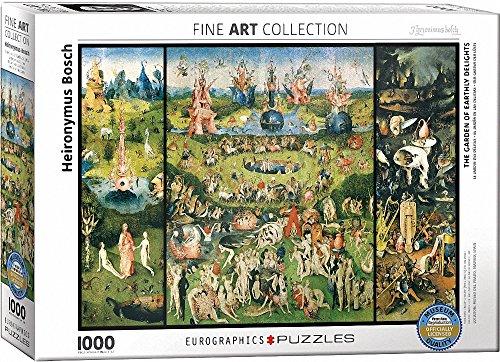 """Eurographics """"Hieronymus Bosch Trittico del Giardino delle delizie, Trittico Puzzle (1000-Piece, Multi-Colour)"""