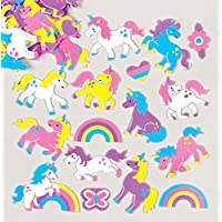 Baker Ross Rainbow Unicorn Foam Stickers (Pack of 120) For Kids To Decorate, Arts and Crafts