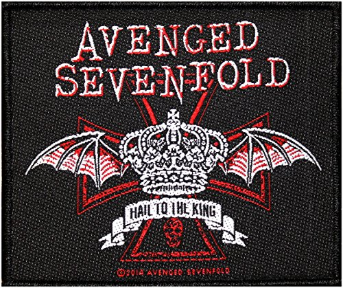Avenged Sevenfold toppa Red Crown Patch in tessuto 10x 8,5cm