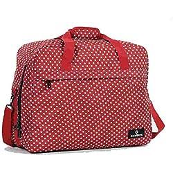 SB-0036-RP - Bolsa de hombro, rojo y lunares blancos