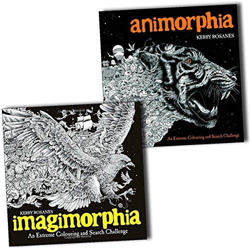 Animorphia and Imagimorphia An Extreme Colouring and Search Challenge 2 Books Collection