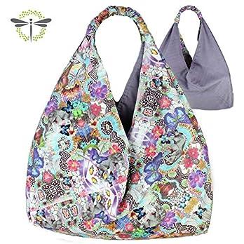 Origami-Tasche I Einkaufstasche I Schultertasche I Markttasche I Shopper I XL *bunte Schmetterlinge*