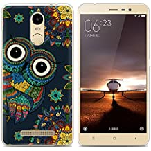 Xiaomi Redmi Note 3 Pro Prime Special Edition case, Heyqie(TM) Thin Transparent TPU Silicone Colorful Owl Pattern Soft Back Phone Cover Case For Xiaomi Redmi Note 3 Pro Prime Special Edition 152 mm