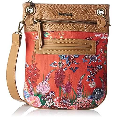 bolsos para el dia de la madre Desigual BOLS_BANDOLERA Ikebana, Bolso Bandolera para Mujer, Rojo (3074), 1x30x25 cm (B x H x T)