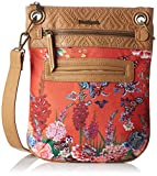 Desigual Women's BOLS_BANDOLERA Ikebana Cross-Body Bag, Red (3074), 1x30x25 cm (B x...