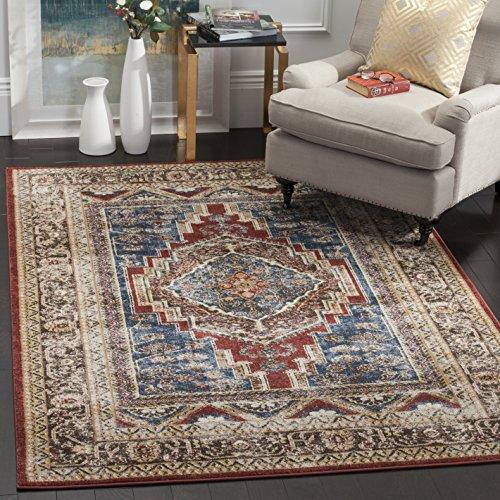 *Safavieh Nahla gewebter Teppich, BIJ636B, Royal / Braun, 121 X 182  cm*