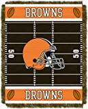 NFL Cleveland Browns Field Woven Jacquard Baby Throw Blanket, 36x46-Inch